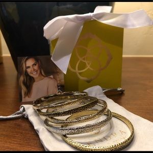 Kendra Scott five piece bangle bracelet set